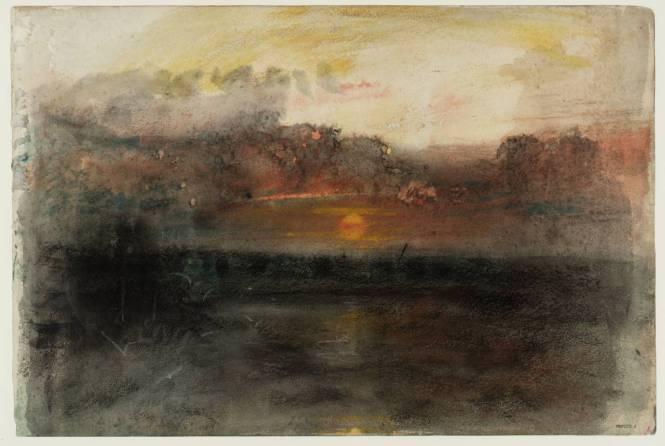 Sunset amid Dark Clouds over the Sea circa 1845 Joseph Mallord William Turner