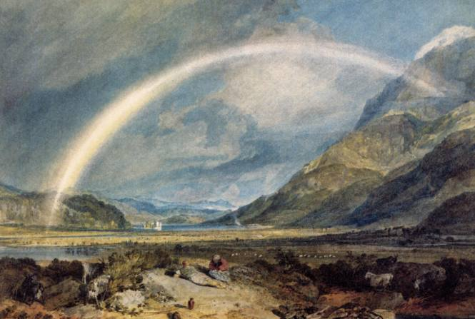 W. Turner, kilcherncastle with the cruchan ben mountains-scotland